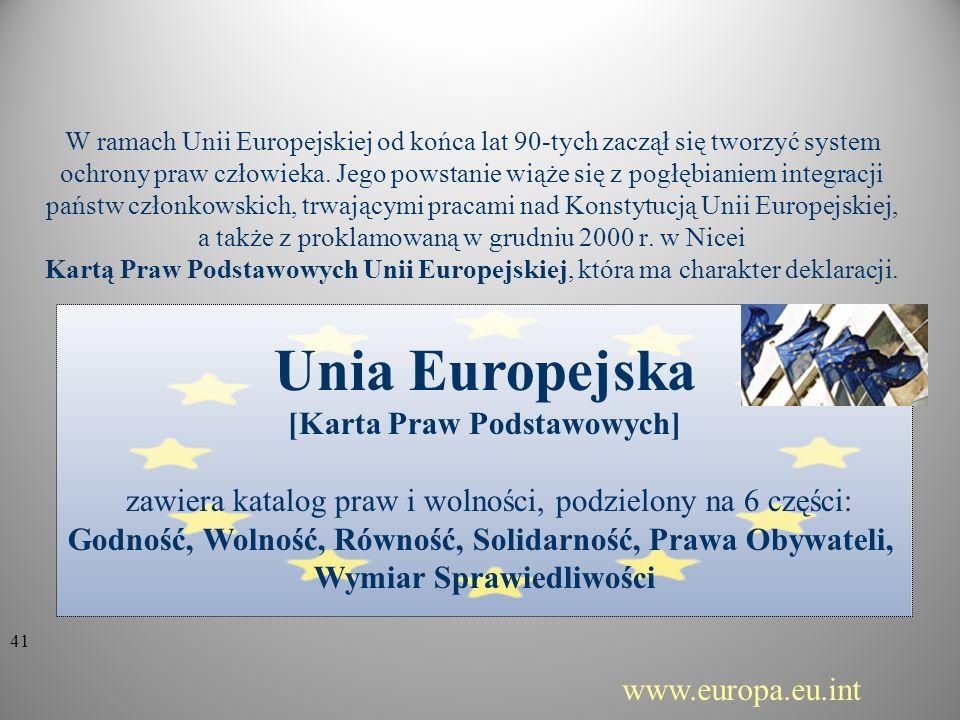 Unia Europejska [Karta Praw Podstawowych]